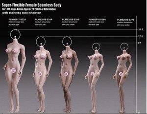 Image 4 - Tblegue 1/6 skala S24A S25B S26A S27B super elastyczne kobiece bezszwowe ciała figurki średnie piersi lalki dla DIY figurka