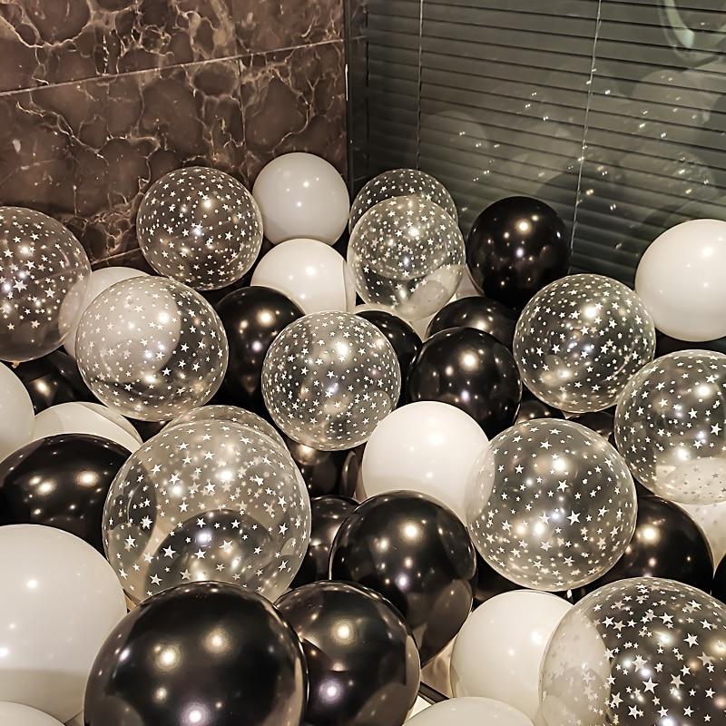 18 шт прозрачный Звездный воздушный шар Металлический Набор Конфетти украшения для дня рождения для взрослых детей гелиевые шары воздушные ...