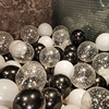 بالونات هيليوم على شكل نجمة مع قصاصات معدنية شفافة ، 18 قطعة ، زينة حفلات أعياد الميلاد ، للأطفال والكبار ، هواء ، للزفاف