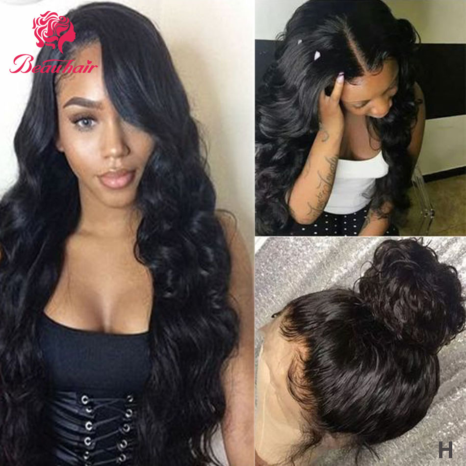 Body Wave Lace Front Wig 13x4 Lace Frontal Human Hair Wig Remy Pre Plucked With Baby Hair 13x4 Lace Closure Wigs For Black Women
