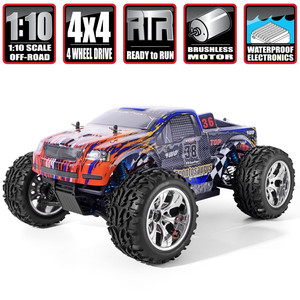 HSP RC Car 1/10 Scale 4wd Off Road Monster Truck 94111PRO Electric Power Brushless Motor Lipo Battery High Speed Hobby Vehicle(China)