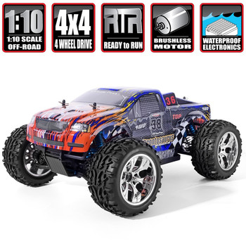 HSP RC Car 1/10 Scale 4wd Off Road Monster Truck 94111PRO Electric Power Brushless Motor Lipo Battery High Speed Hobby Vehicle image