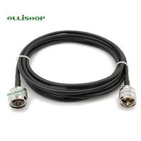 Digitale PL259 PL 259 male UHF PL 259 stecker auf N Stecker Anschlüsse auf LMR195 Koaxialkabel Jumper RF Koaxialkabel-in Steckverbinder aus Licht & Beleuchtung bei