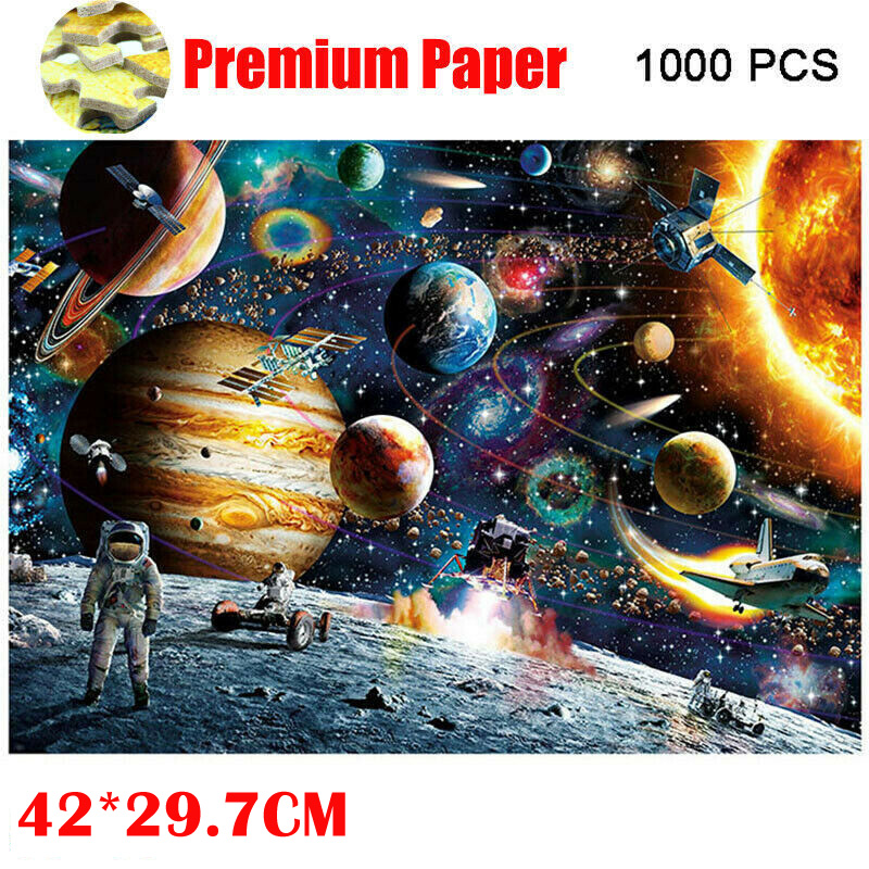 Puzzles Toy Planet Pattern Jigsaw Puzzle Puzzles 1000 Pieces Game Interesting educational Toys For Kids Childrens wooden Toys