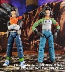 Limited edition Dragon Ball Super DBZ SHF Android NO.17 NO.18 Action Figure Figurals Brinquedos Model Dolls Toys