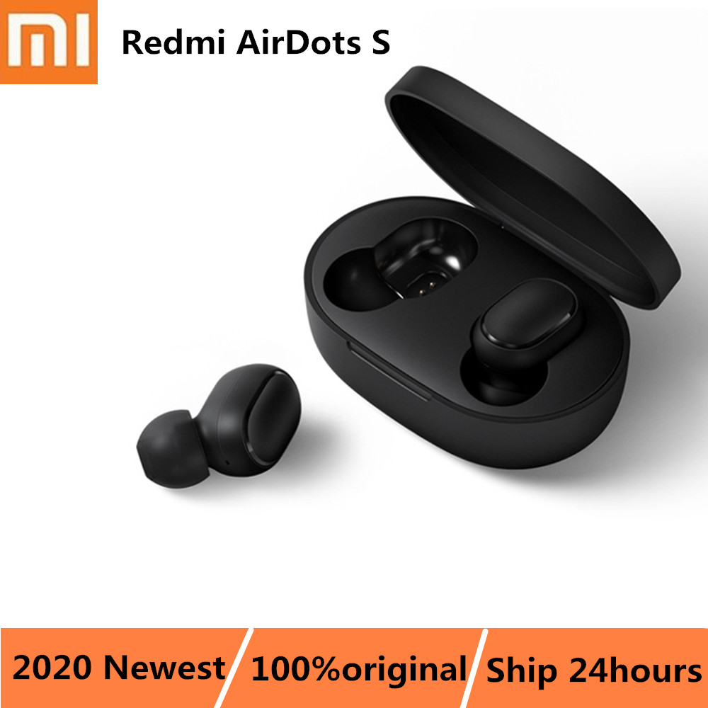 Original Xiaomi Redmi AirDots S Earphone TWS Bluetooth Wireless Headset Left Right Low Lag Mode Stereo Auto Link Earpods BT5.0