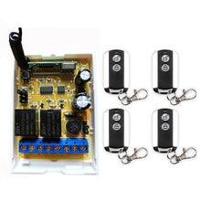 Dc12v dc24v 2ch canais 2 ch rf sistema de interruptor controle remoto sem fio, receptor + metal transmissor portas garagem persianas
