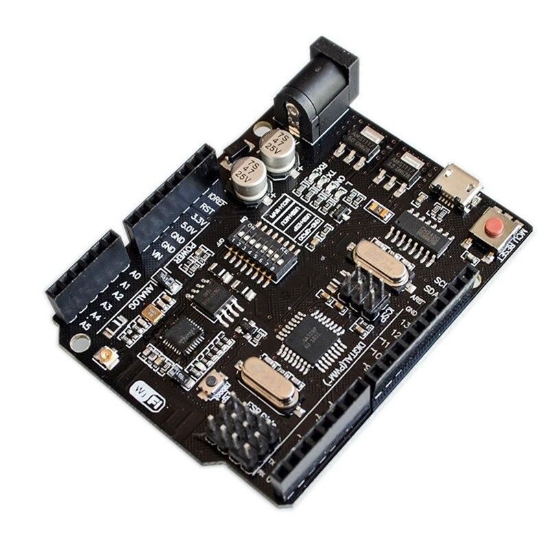 UNO R3 + WiFi ATmega328P + ESP8266 (32Mb speicher) USB-TTL CH340G Für Arduino Uno NodeMCU WeMos ESP8266 Eine Neue Ankunft