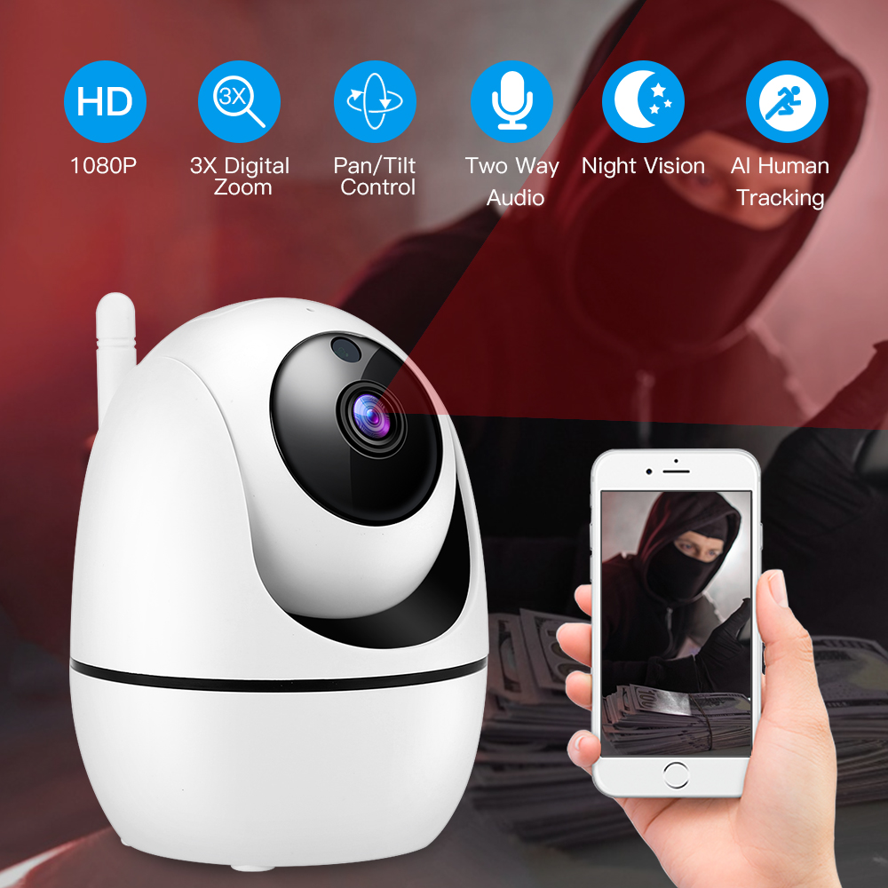 HD 1080P Wireless IP Camera WiFi Auto Tracking Human Home Security CCTV Wifi Camera Ip Cam Audio Camaras De Vigilancia Con Wifi