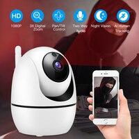 HD 1080P bezprzewodowa kamera ip WiFi Auto śledzenia człowieka bezpieczeństwo w domu CCTV kamera wifi kamera ip audio camaras de vigilancia con WiFi w Kamery nadzoru od Bezpieczeństwo i ochrona na