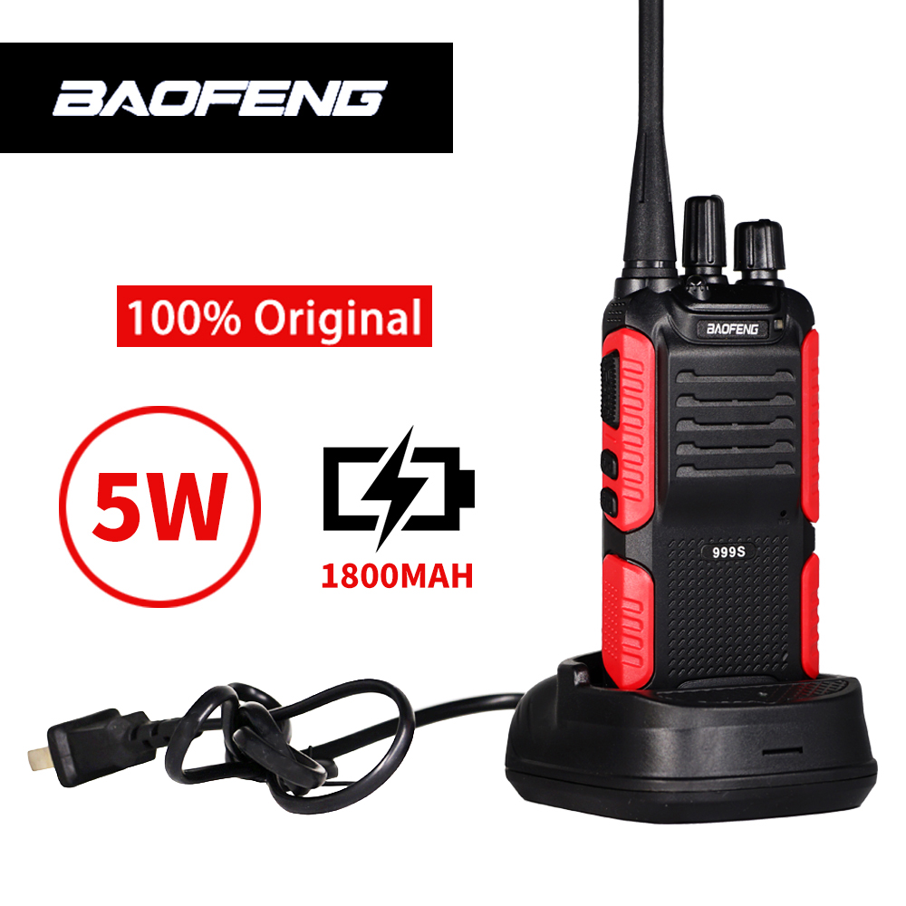 Baofeng 5W Two-way Radio BF-999S Plus Long Range 10km Walkie Talkie BF-999S(2) Upgrade BF-888S Wireless Intercom Ham Radio