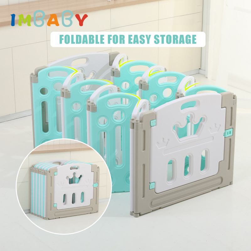 IMBABY New Baby Playpen kids Indoor Playground Slide Family Amusement Park Children Security Fence Toddler Ball Pool Toys Game(China)