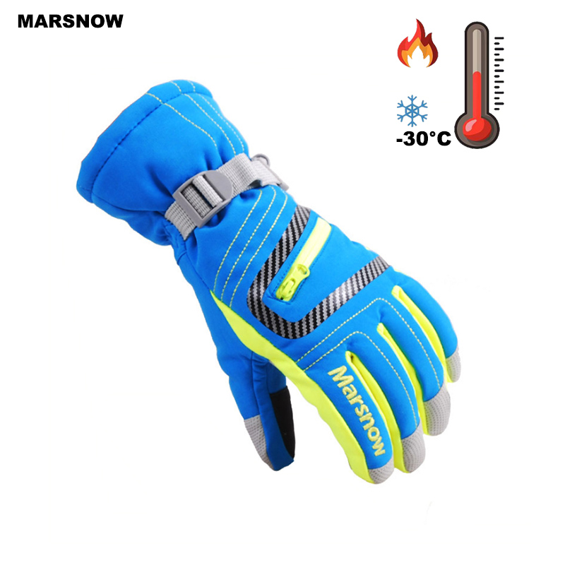 SG18K Winter Outdoor Adult Professional Waterproof Snow Gloves Warm Motorcycle Gloves Snowboarding Ski Gloves