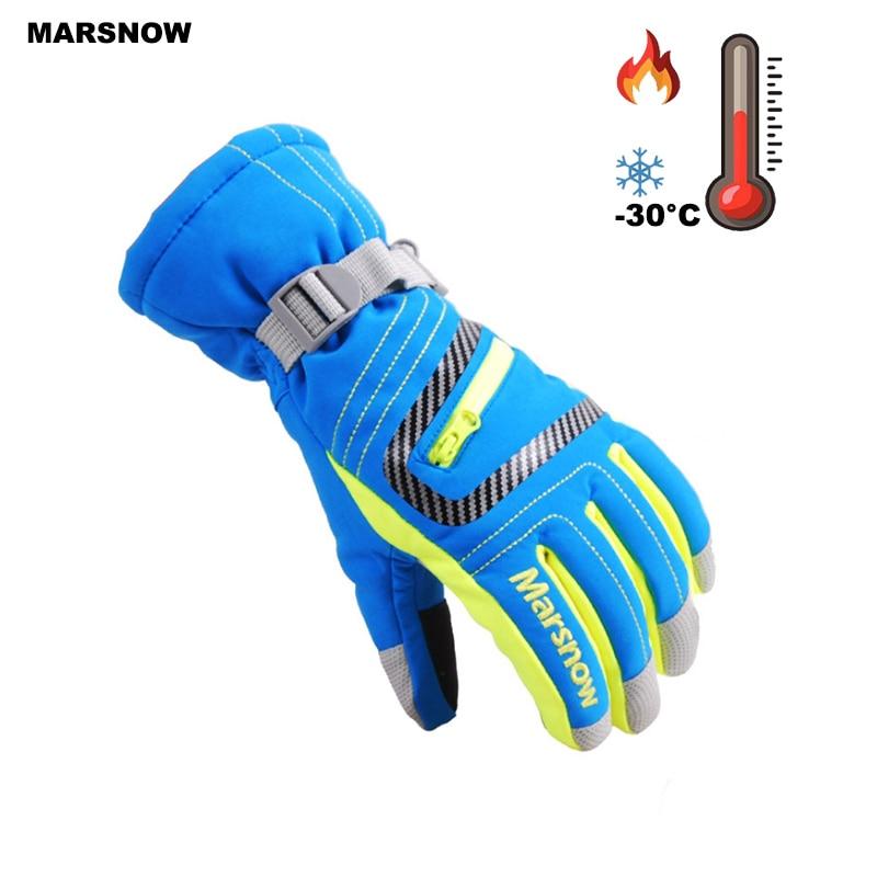 SG18K Winter Outdoor Adult Professional Waterproof Snow Gloves Warm Motorcycle Gloves Snowboarding Ski Gloves