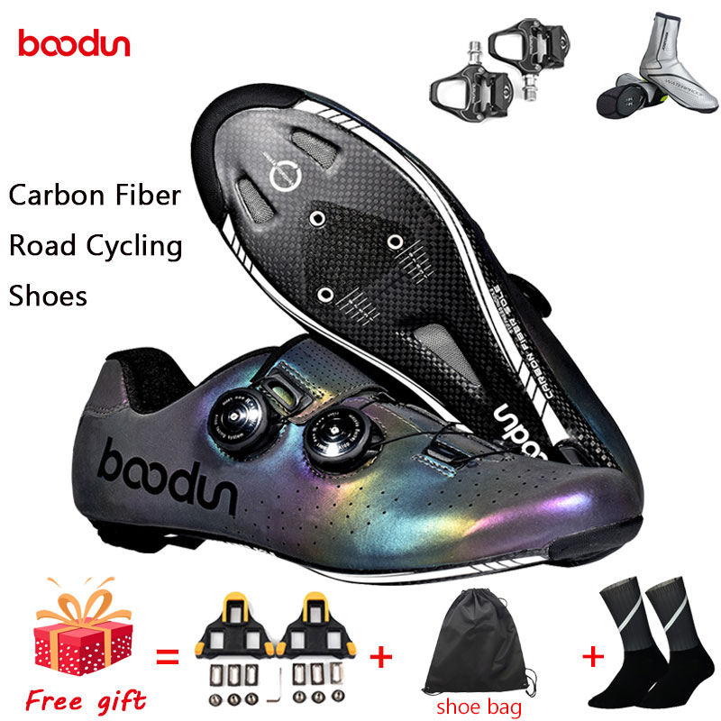2020 new Cycling Shoes Man Carbon Fiber Ultralight Self-Locking Bike Shoes Bicycle Racing Athletic Road Shoes Zapatos Ciclismo