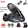 2020 nowe obuwie rowerowe człowiek z włókna węglowego Ultralight samoblokujące buty rowerowe wyścigi rowerowe sportowe buty szosowe Zapatos Ciclismo w Buty rowerowe od Sport i rozrywka na
