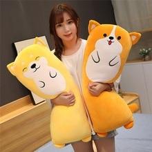 купить Hot Soft Corji&Shiba Inu Plush Toy Cute Cartoon Animal Rabbit Stuffed Doll Bed Sofa Nap Pillow Cushion Lovers Valentine's Gift недорого