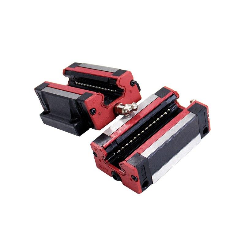Livraison gratuite 2pc 15 1000 mm HGR15 rail de guidage linéaire toute longueur + 4pc chariot de bloc linéaire HGH15CA/flang HGW15CC HGH15 pièces de CNC - 5