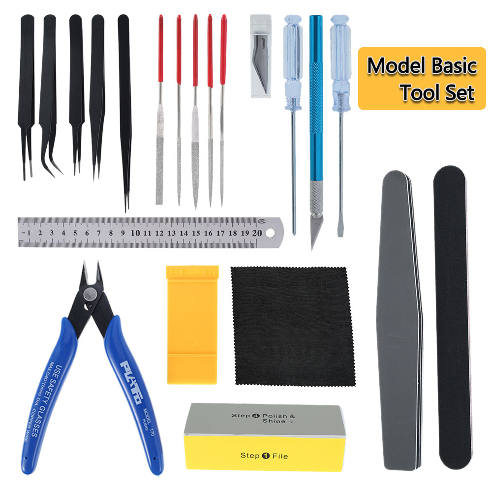 Hobby Model Building Tools Combo For Gundam Tools Military Hobby Model DIY Accessories Grinding Cutting Polishing Tools Set
