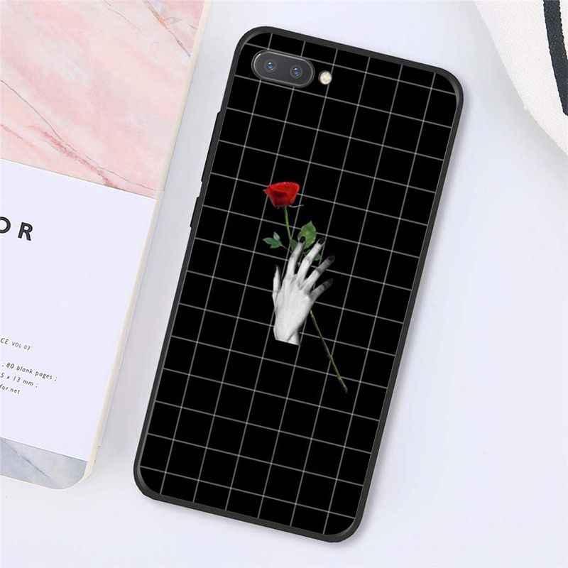 MaiYaCa Zwart wit geblokte streep Telefoon Case voor Huawei Honor 8X9 10 20 Lite Honor 7A 7C Honor10i view20