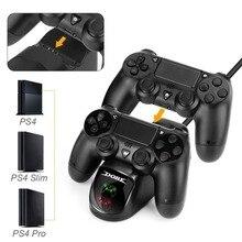 PS4 contrôleur Station de chargement pour Station de jeu 4 double support de chargeur pour PS4/PS4 Slim/PS4 Pro