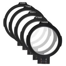 Ulanzi uurig rfs nd 58mm 67mm 72mm 77mm 82mm interruptor de liberação rápida suporte lente filtro para câmera dslr fotografia suporte
