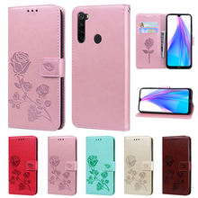 For Xiaomi Redmi Note 8T Case Leather Flip Case on for Fundas Xiaomi Redmi Note 8T 8 T Cover 3D Flower Wallet Phone Case Etui