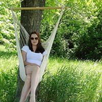 Portable Large Cotton Rope Hammock Chair Portable Hanging Chair (White)