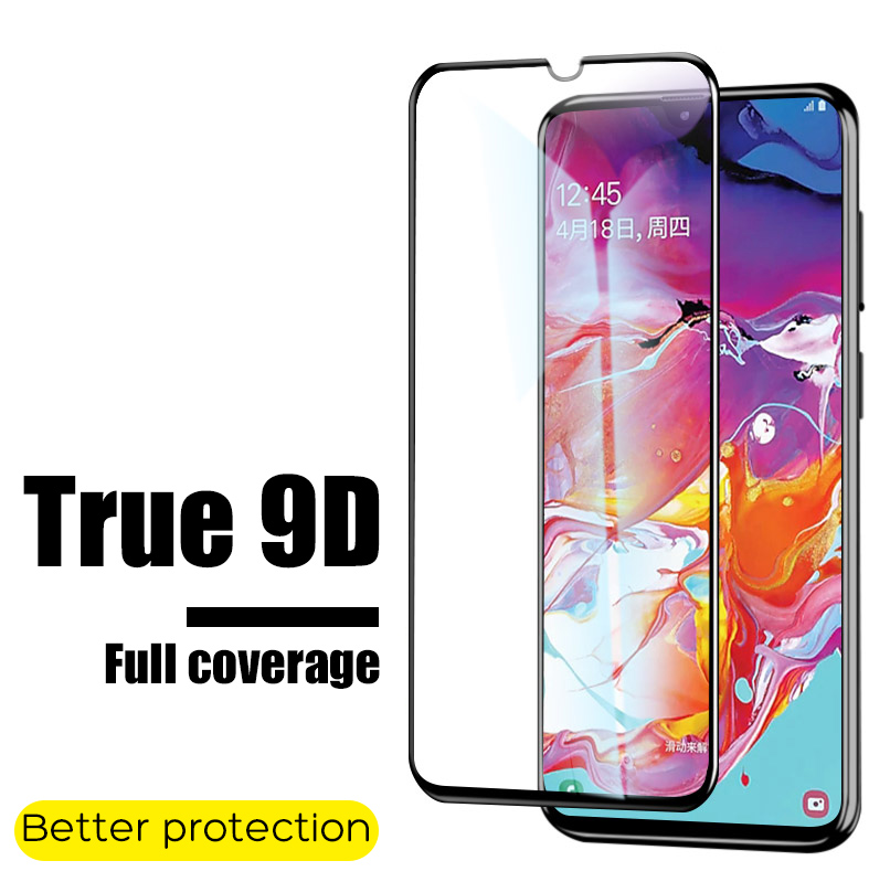 9D Full Cover Portective Tempered Glass For Samsung Galaxy A10 A20 A30 A40 A50 A60 A70 A80 A90 M30 Glass Screen Protector Film