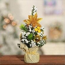 2018 New mini small Christmas tree desktop decoration linen bright cloth