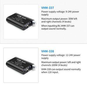 Image 5 - VHM338 Mini Bluetooth 5.0 dijital amplifikatör Hifi Stereo kablosuz ses alıcısı güç amplifikatörü 100W + 100W araba ses amplifikatörler