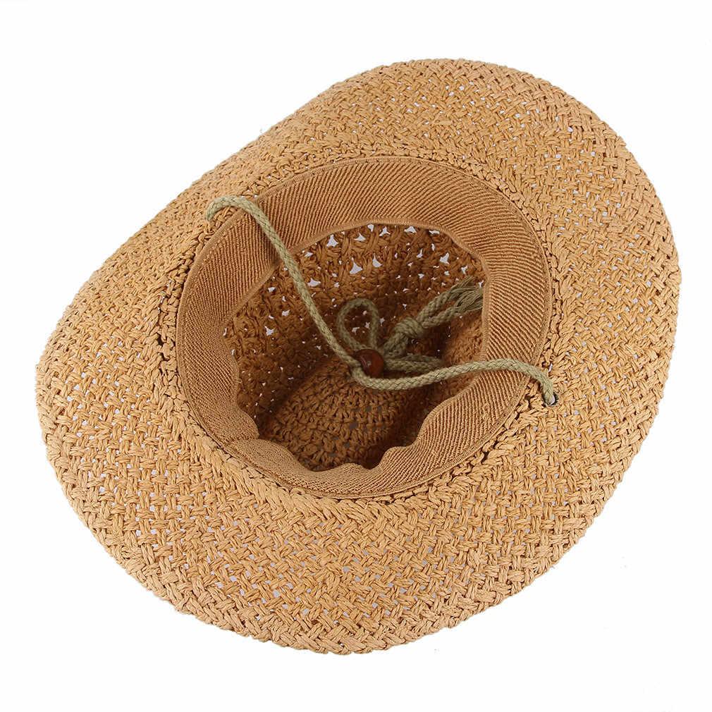 Hoed Mannen Vrouwen Retro Western Cowboy Koffie Hoeden Lederen Riem Brede Rand Cap Hoed 19July25 P30