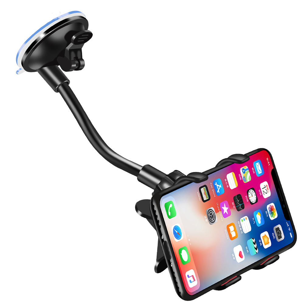 Universal Phone Car Holder Flexible 360 Degree Rotation Car Mount Mobile Phone Holder for iPhone Samsung Xiaomi GPS Smartphone