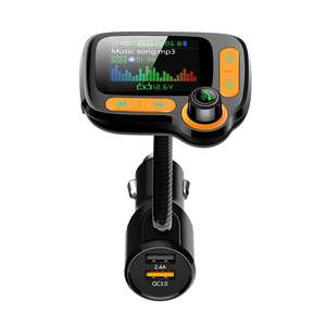 Transmitter Car Bluetooth Smart-Quick-Charger Hands-Free Hot with Fm-Function Voltage-Detection