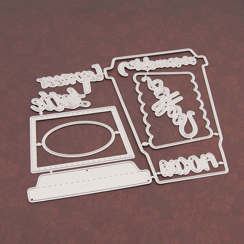 Die Cutting-Dies Embossing-Mould Craft-Paper Coffee-Cup Metal Christmas Scrapbooking/diy