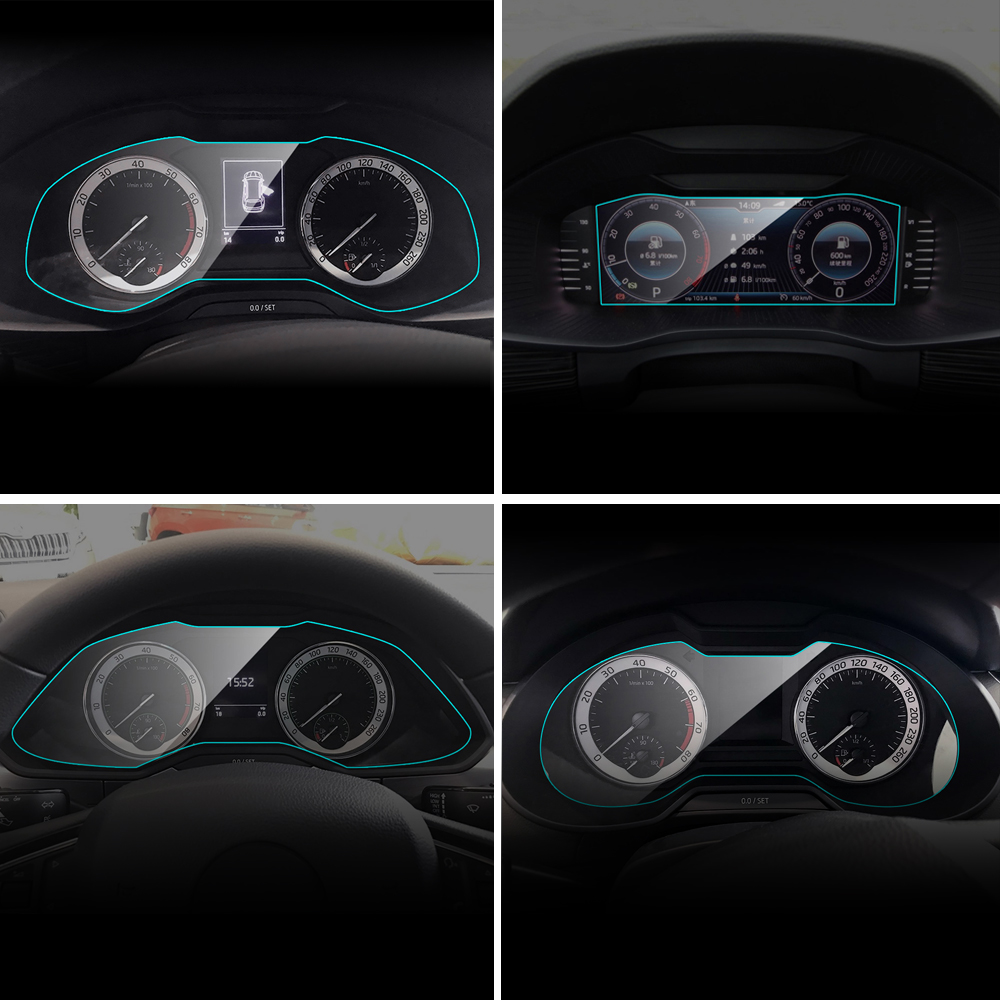 Car Instrument Panel Screen Protector for Skoda Octavia Kodiaq Fabia Superb Rapid Yeti KAMIQ KAROQ Interior Protective TPU Film