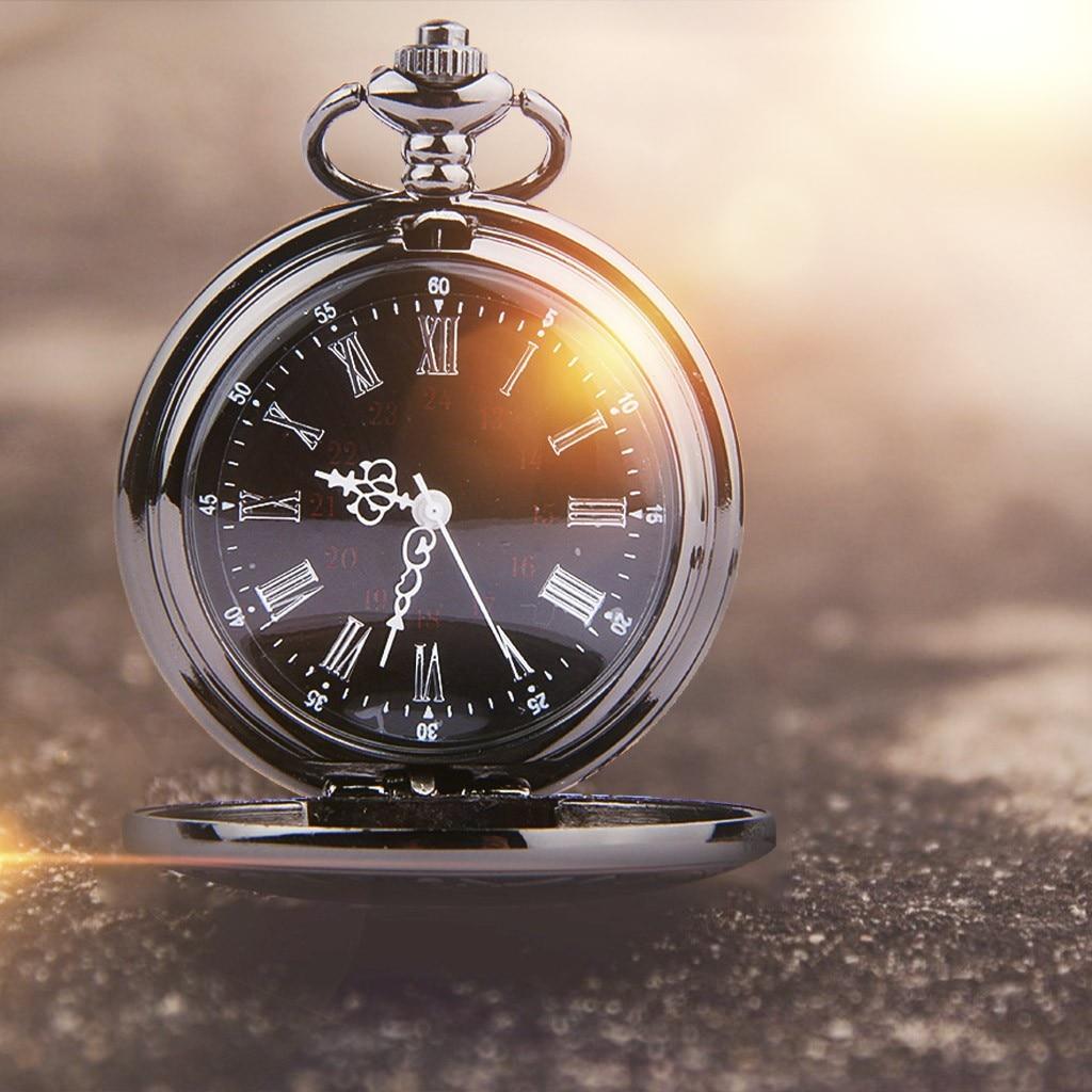 Zegarek męski zegarek kieszonkowy ze stali nierdzewnej prosty Retro romantyczny podwójny wyświetlacz zegarek kieszonkowy w skali rzymskiej карманные часы Y10.28