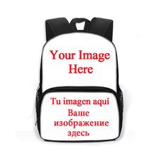 13 Inch Customize Your Image Logo Name Backpack Children School Bag Boys Girls Kindergarten Bag Backpacks Kids Book Bag Gift