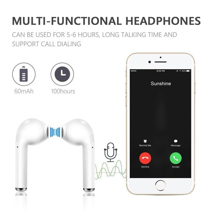 i7s TWS I7 športne slušalke z mikrofonom za pametni telefon iPhone - Prenosni avdio in video - Fotografija 2