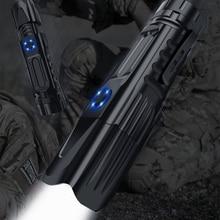 USB נטענת גבוהה איכות עוצמה טקטי זום פנס XHP P90 LED התקרבות לפיד