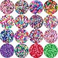 19 Стиль 50/100 шт разноцветные бусины из глины 10 мм с принтом «фрукты»/животных/Любовь Форма Бусы из полимерной глины для изготовления украшен...