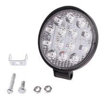 Car Truck 42W 6500K 12V 24V Round LED Work Spot Light Flood Driving Lamp цена
