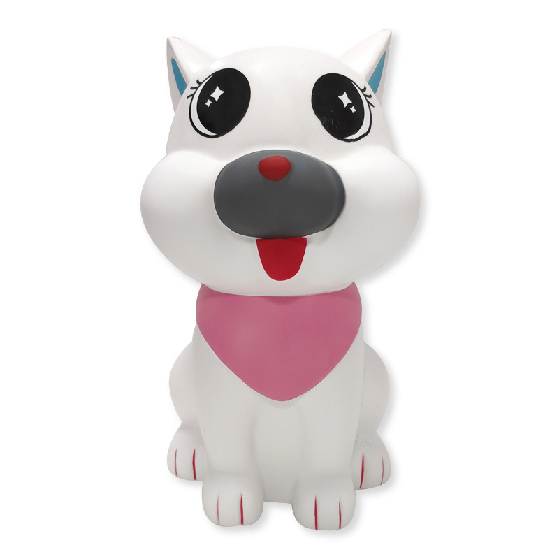 11.4inch Jumbo White Dog Squishies Toy 29cm Big Size PU Anti Stress Slow Rising Squeeze Animal Toys Gift And Decorate