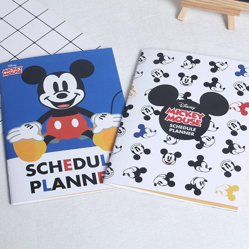 Mickey Cartoon Notebook Mickey Mouse Stationery Disney Princess Cute Notepad Winnie Student School Supplies Boy Girl Notebook