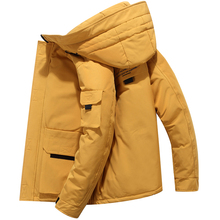 Fashion Winter Down Jacket Men Top Quality Thick Warm White Duck Coat Hooded Parka Clothes Big Pocket