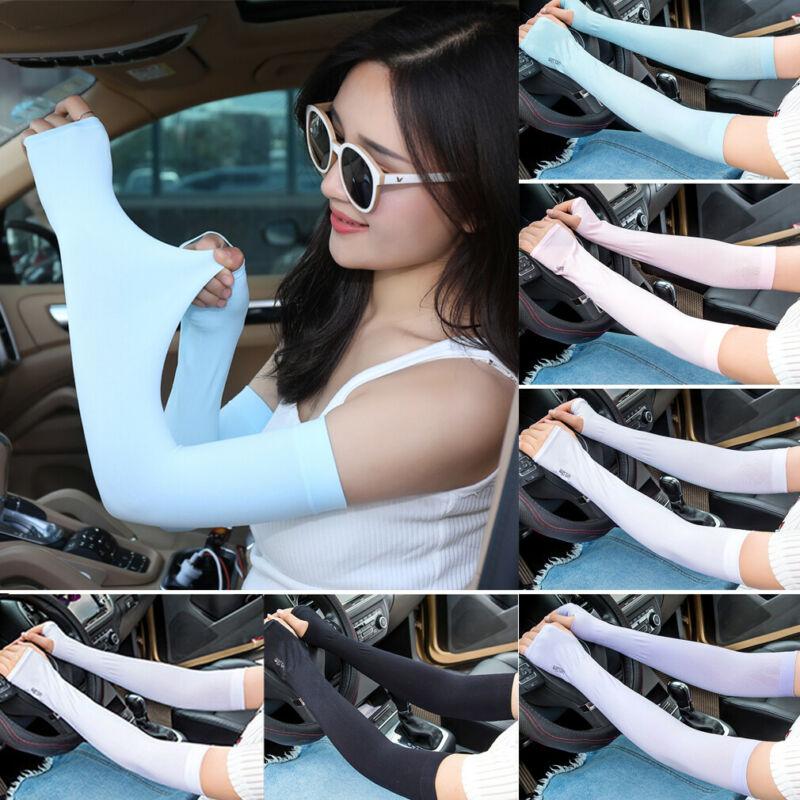 Meihuida Men Women Arm Sleeves Summer Sun UV Protection Cycling Running Fishing Clambing Driving Arm Cover