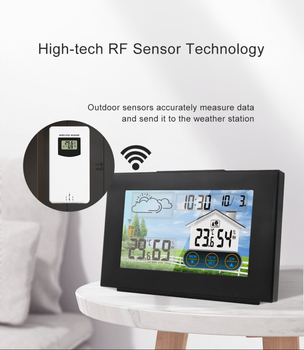 Weather Station Touch Screen Wireless Indoor Thermometer Hygrometer Digital Alarm Clock Barometer Forecast Meter Digital Alarm weather station touch screen wireless indoor thermometer hygrometer digital alarm clock barometer forecast meter digital alarm