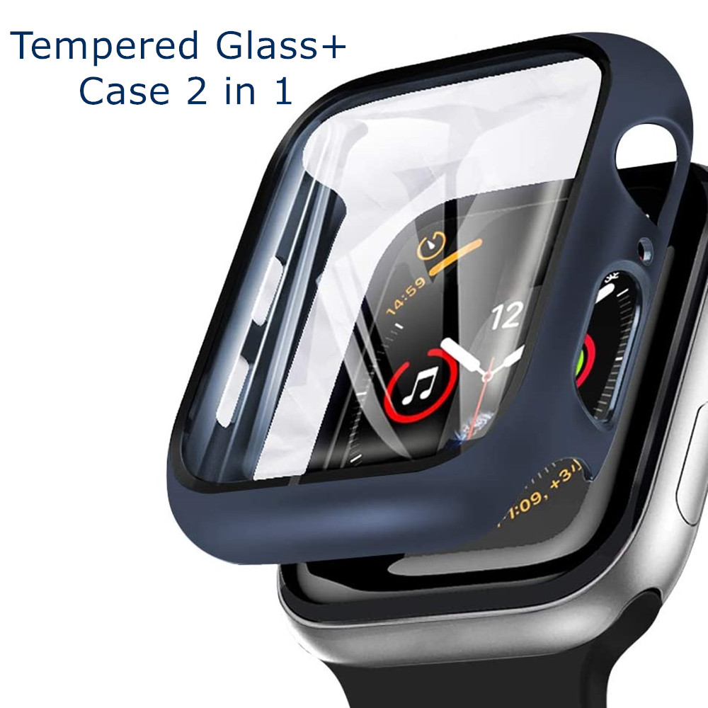 Glass--Cover Case Bumper Tempered-Glass Apple Watch 42mm 38mm 44mm for 5/4/3-/.. 40mm