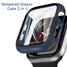 Glass + Cover For Apple Watch case 6/SE/5/4/3/2/1 iWatch 42mm 38mm bumper Tempered Glass for apple watch 44mm 40mm 42mm 38mm