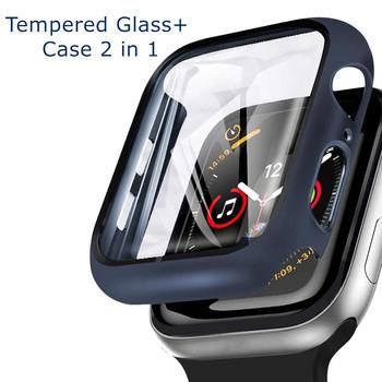 Szkło + pokrowiec na Apple Watch case 6 SE 5 4 3 2 1 iWatch 42mm 38mm zderzak szkło hartowane na Apple watch 44mm 40mm 42mm 38mm tanie i dobre opinie DLHUMI Z tworzywa sztucznego CN (pochodzenie) Etui na zegarek 44 42 40 38 mm for applewatch case series 6 5 4 3 2 1 band strap film